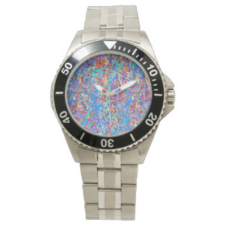 Extracto azul brillante de la salpicadura de la relojes de mano