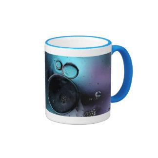 Extracto azul contemporáneo de los círculos del © tazas