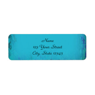 Extracto azul de la acuarela de la aguamarina etiqueta de remite