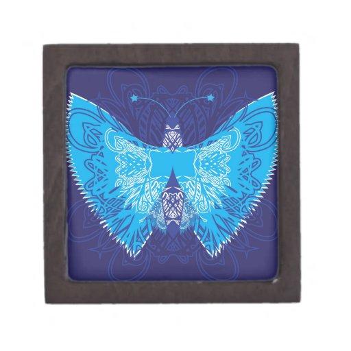 Extracto azul de la mariposa cajas de regalo de calidad