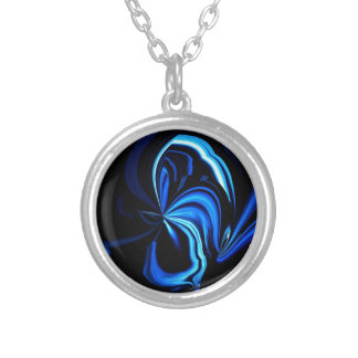 Extracto azul de la mariposa colgante redondo