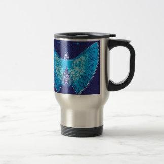 Extracto azul de la mariposa taza de viaje