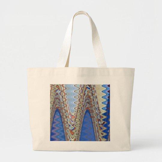 extracto azul de la onda bolsa de tela grande