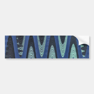 extracto azul de la onda etiqueta de parachoque