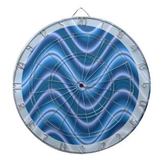 Extracto azul de la onda tablero dardos