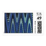 extracto azul de la onda sello postal