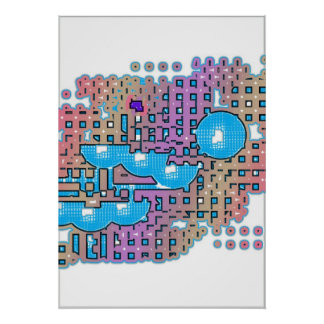 Extracto azul de la pasión póster