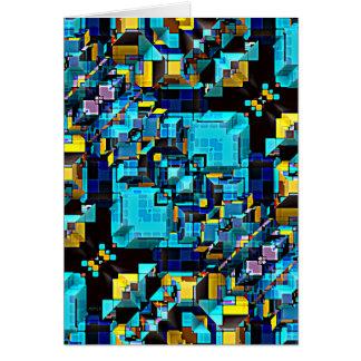 Extracto azul de la tecnología tarjeta de felicitación