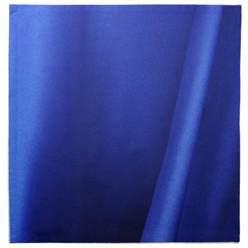 Extracto azul de la tela de seda que fluye servilleta imprimida