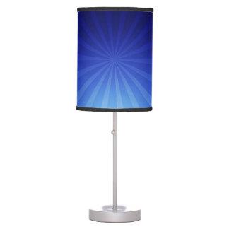 Extracto azul de la velocidad de la deformación lámpara de mesilla de noche