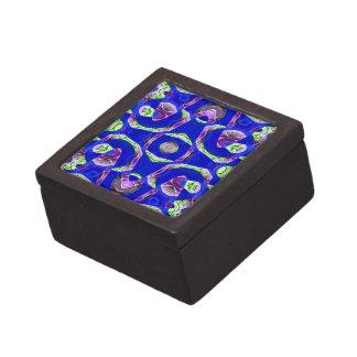 extracto azul de lujo cajas de joyas de calidad