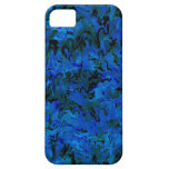 Extracto azul del carbón de leña retro iPhone 5 Case-Mate protector