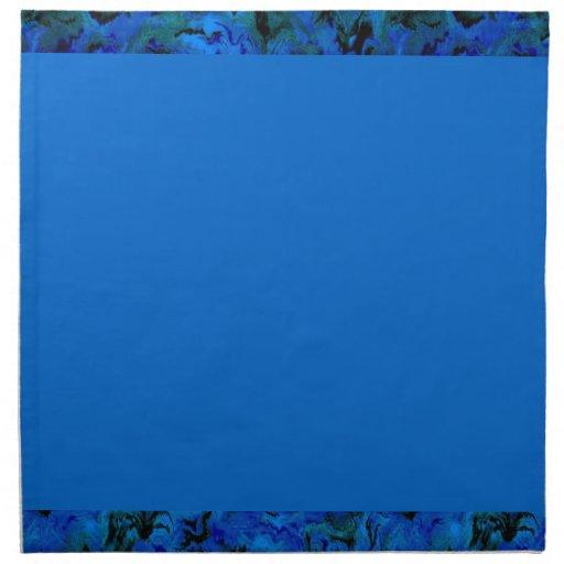 Extracto azul del carbón de leña retro servilletas de papel