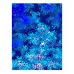 Extracto azul del desplome postal