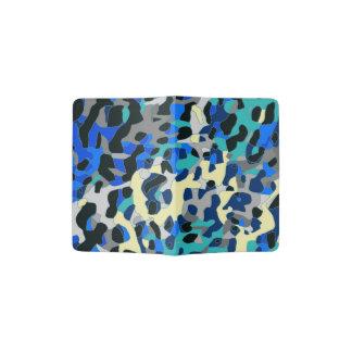 Extracto azul del guepardo del negro de la porta pasaporte