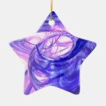 Extracto azul del humo adorno de cerámica en forma de estrella