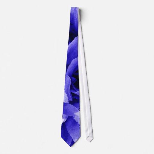 Extracto azul del pétalo corbata personalizada