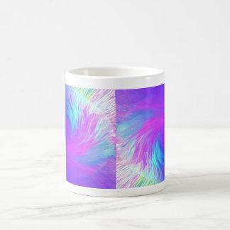 Extracto azul del remolino taza