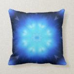 Extracto azul eléctrico almohadas
