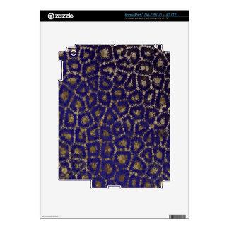 Extracto azul fluorescente del guepardo del oro pegatinas skins para iPad 3