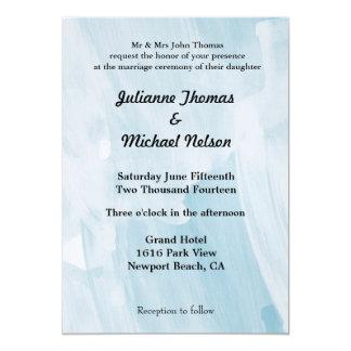 Extracto azul helado invitación 12,7 x 17,8 cm