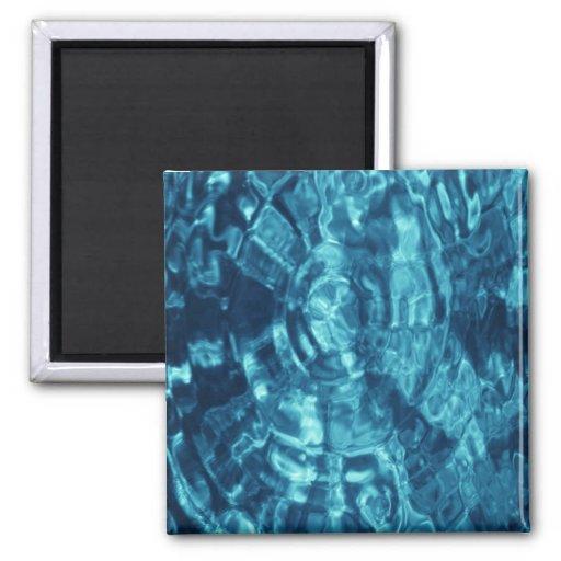 Extracto azul imán cuadrado