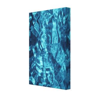 Extracto azul impresión en lienzo