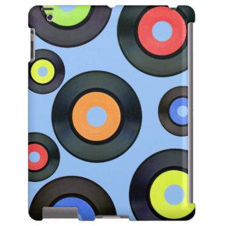 Extracto azul inspirado retro del álbum de disco funda para iPad
