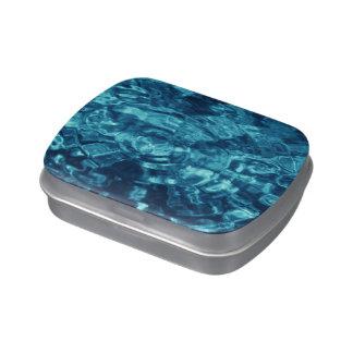 Extracto azul jarrones de dulces