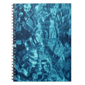 Extracto azul libro de apuntes con espiral