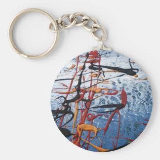 Extracto azul llavero redondo tipo pin