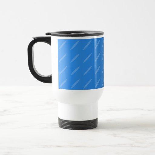 Extracto azul moderno. Modelo fino de los óvalos Taza De Café