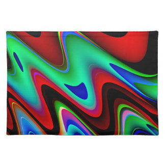 Extracto azul negro rojo de Swirly Manteles