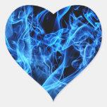 Extracto azul pegatina en forma de corazón