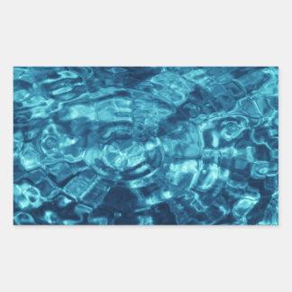 Extracto azul pegatina rectangular