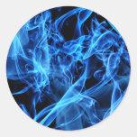 Extracto azul pegatinas redondas