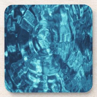 Extracto azul posavasos de bebida