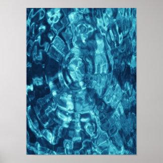 Extracto azul póster