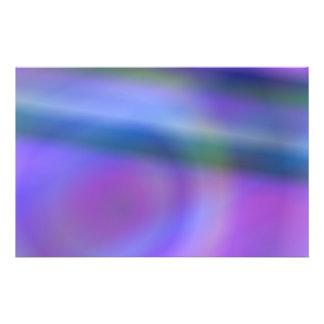 Extracto azul púrpura del color folleto 14 x 21,6 cm
