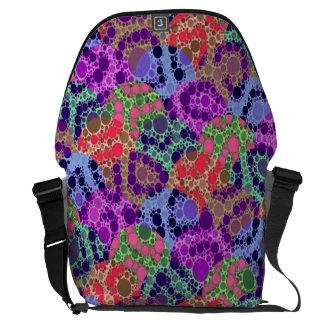 Extracto azul púrpura fluorescente del guepardo bolsa de mensajeria