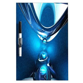 Extracto azul que brilla intensamente tablero blanco