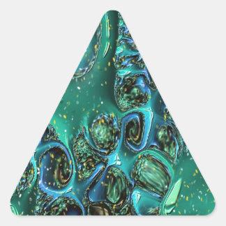 Extracto azul que remolina pegatina triangular