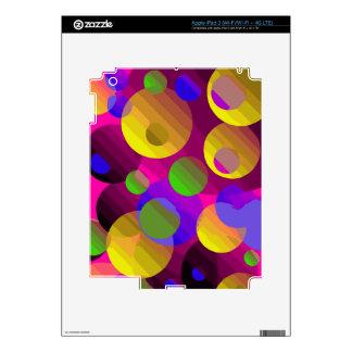 Extracto azul rosado amarillo fluorescente pegatinas skins para iPad 3