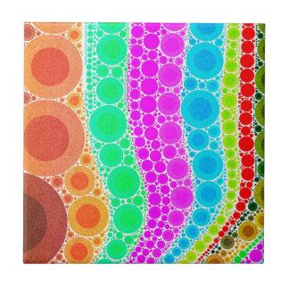 Extracto azul rosado anaranjado del círculo azulejo cuadrado pequeño