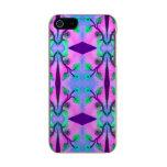 Extracto azul rosado bonito de la flor carcasa de iphone 5 incipio feather shine