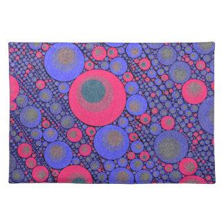Extracto azul rosado del círculo manteles