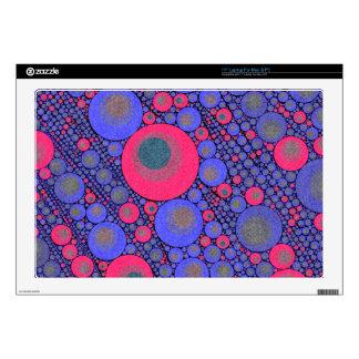 Extracto azul rosado del círculo skins para 43,2cm portátiles
