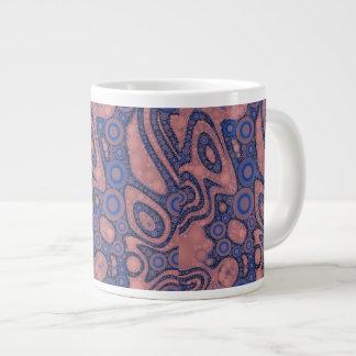 Extracto azul rosado del polvo taza grande