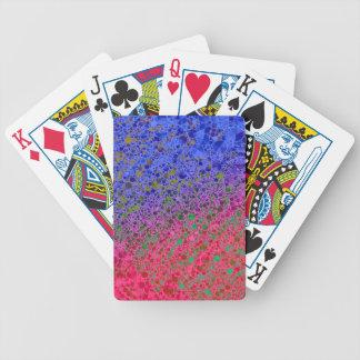 Extracto azul rosado fluorescente baraja cartas de poker