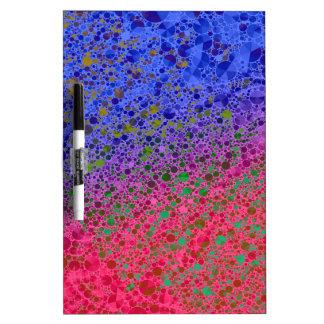 Extracto azul rosado fluorescente pizarras blancas de calidad